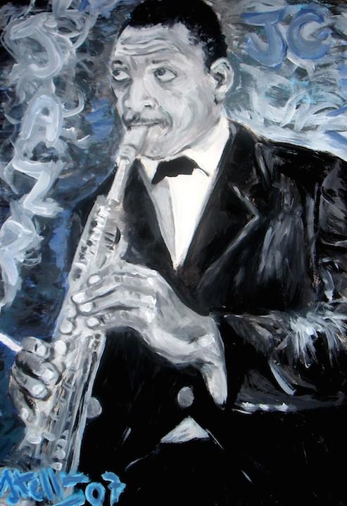 """""""Portrait of John Coltrane"""" by Paolo Steffen ©Paolo Steffen"""